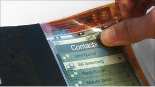 Создан первый гибкий смартфон из электронной бумаги