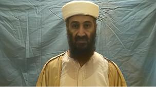 Bin Laden en un video difundido por el Pentágono