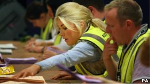 苏格兰哈丁顿地方选举点票现场(5/5/2011)