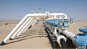 Pozo de petroleo en Libia