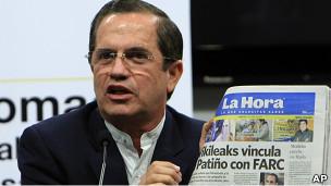Ricardo Patiño, canciller ecuatoriano