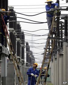 Subestación eléctrica en China