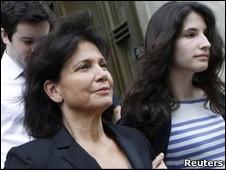 Vợ và con gái ông Dominique Strauss-Kahn