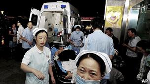 部分伤者被送到成都医院救治