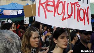 Manifestante en España