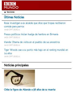 BBC Mundo móvil