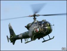 Tipo de helicóptero que pode ser usado no conflito líbio (PA)