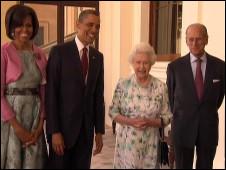 Obama e a rainha