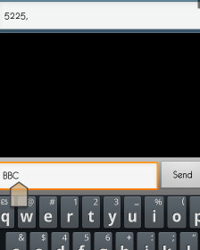 Imagen de un mensaje de texto