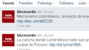 BBC Mundo en Twitter