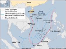 Đường 9 điểm hay bản đồ 'lưỡi bò' của Trung Quốc