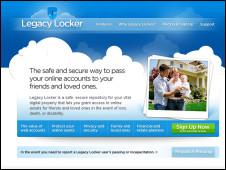 Homepage do Legacy Locker (Reprodução/ Legacy Locker)