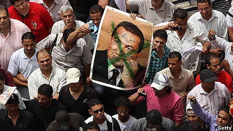 Una manifestación en la plaza de Tahrir la semana pasada.