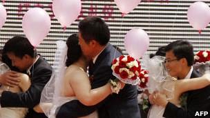 Parejas de recién casados en China
