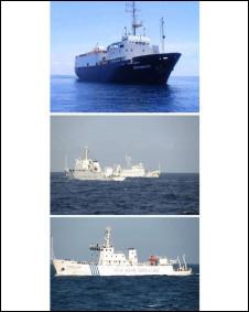 Tàu Bình Minh và tàu hải giám Trung Quốc