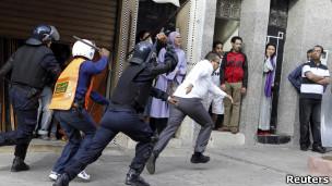 قمع احتجاجات في المغرب