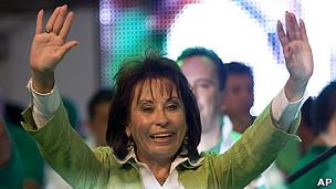 Sandra Torres, candidata a la Presidencia de Guatemala