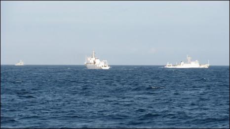 Ba tàu hải giám Trung Quốc trong sự kiện 26/05