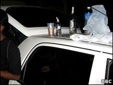 गाड़ी में शराब