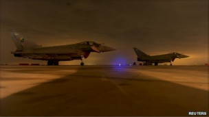 مقاتلات بريطانية الى ليبيا