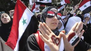 متظاهرات سوريات