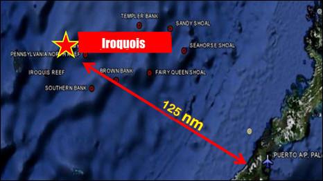Địa điểm Trung Quốc bị cáo buộc vi phạm lãnh hải Philippines hồi tháng Năm