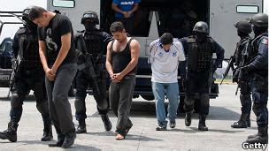 Detención de narcotraficantes en México