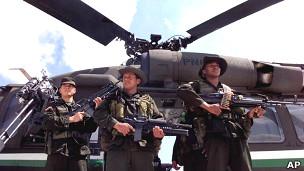 Policía antinarcóticos de Colombia