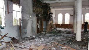موقع القصف على المسجد