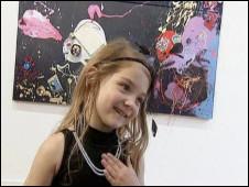 Aelita Andre em sua exposição individual (Foto: Reuters)