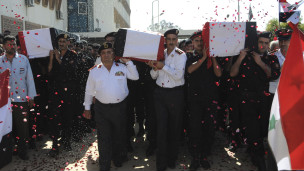 تشييع قتلى رجال الامن في سورية