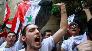 سوريون يحتجون في القاهرة