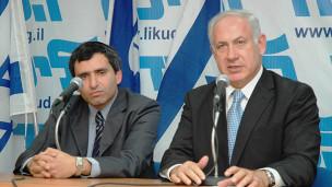 Зеев Элькин и Биньямин Нетаньяху