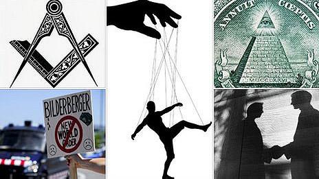 Varios símbolos de organizaciones secretas