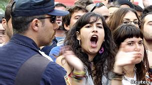 Manifestantes en España