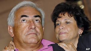 Dominique Strauss-Khan y su esposa Anne Sinclair