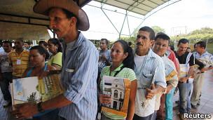 Beneficiarios de la Ley de Víctimas en Colombia