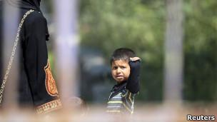 طفل سوري لاجئ