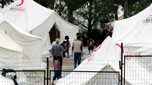 معسكر للاجئين السوريين داخل الأراضي التركية