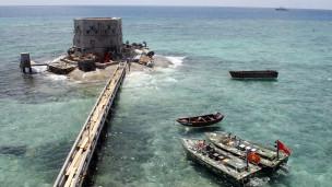 有主权争议的南中国海