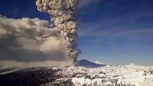 Vulcão Puyehue no Chile (BBC)