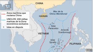 mapa de China meridional