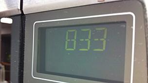Reloj del un horno microondas