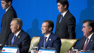 مديفيديف ونزارباييف ورحمون
