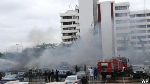 انفجار مقر الشرطة في أبوجا بنيجيريا