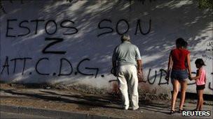 Grafiti protes di Meksiko