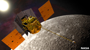 Sonda Messenger en Mercurio