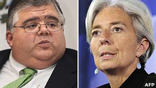 Carstens (izqda.) y Lagarde.