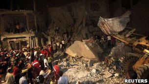 سكن الخويلدي الحميدي بعد قصفه