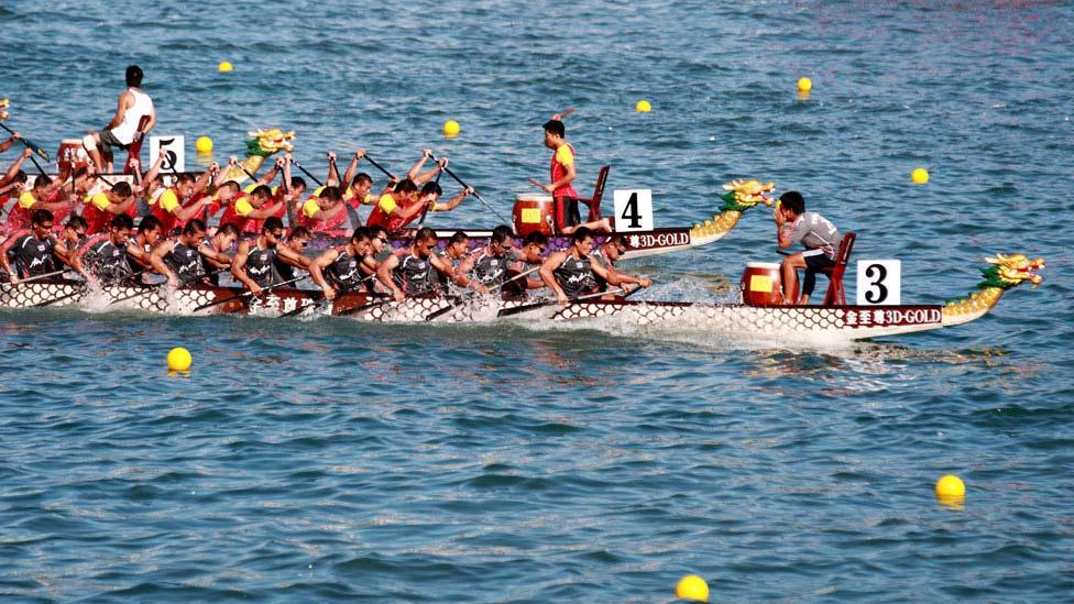 Dragon Boat Racing held on Flat Water